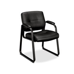 basyx by hon model hvl693 leather guest chair g p office furniture